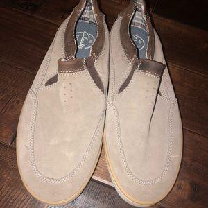 Men's size 10 Clark's suede boat comfort shoes
